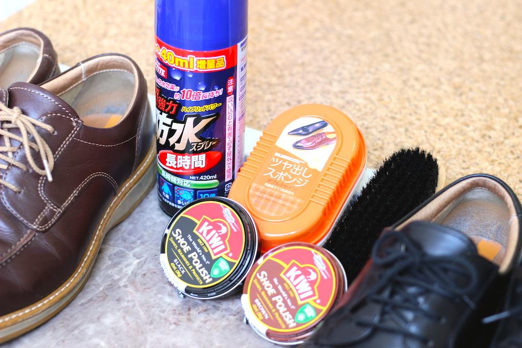 靴のお手入れ用品の写真