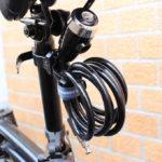自転車のサドルに付けっぱなしで持ち運び不要の鍵が便利です