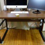 在宅勤務で買ってよかったiMac2画面で快適な奥行70cmのデスク